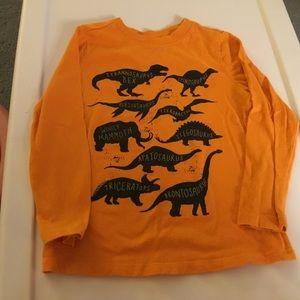 Old Navy Boys Orange Dinosaur Long Sleeve Tee 5T.